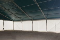Carpa 20x20m techo verde interior